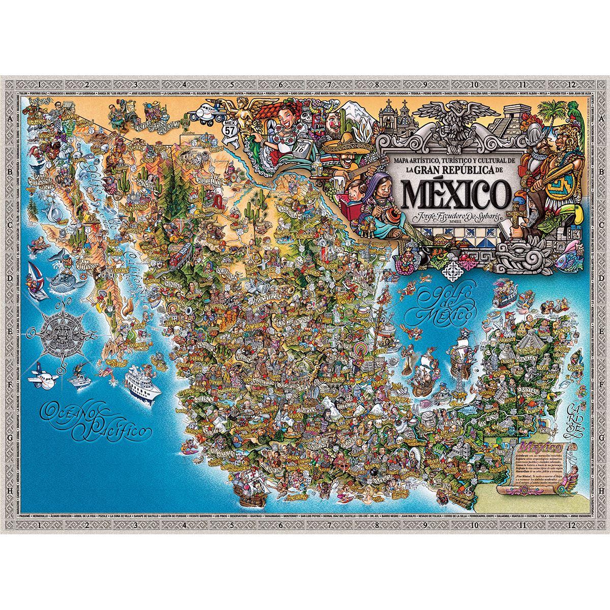Mapa Artístico De La República Mexicana