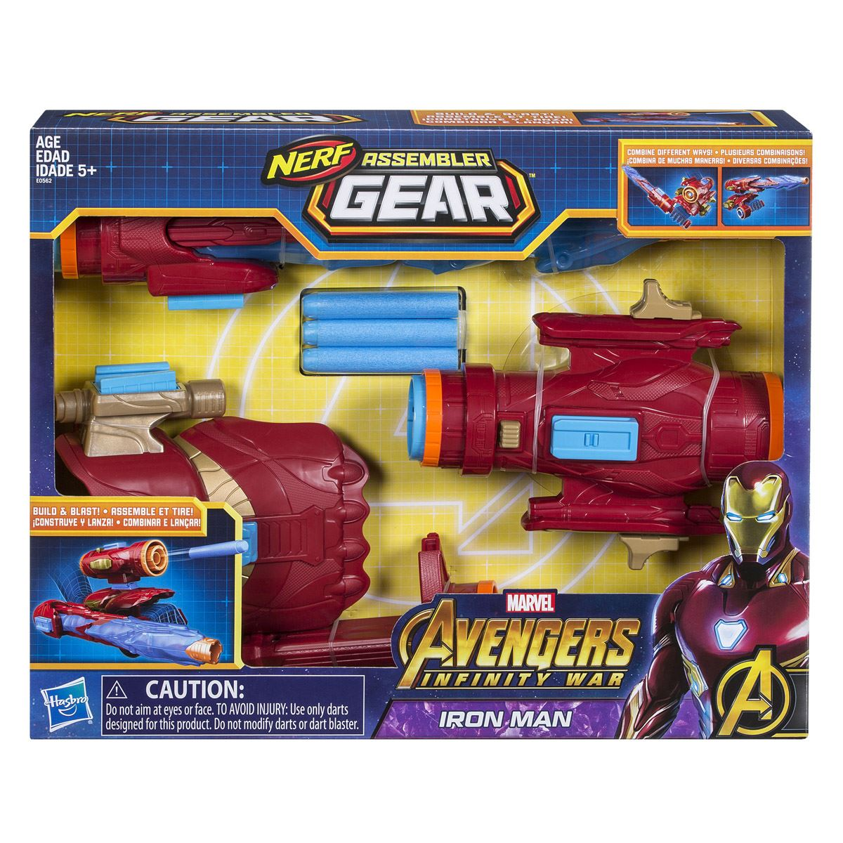 Lanzador ensamblable iron man avengers marvel  - Sanborns