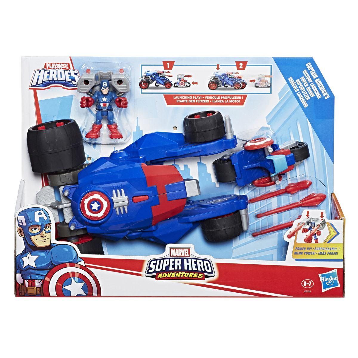 Tanque Propulson Capitán América Súper Héroe Playskool
