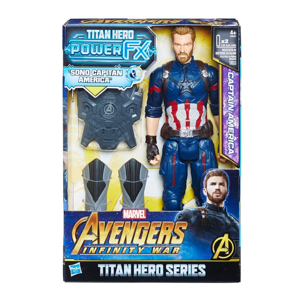 Power pack capitán américa 12 pulgadas avengers marvel  - Sanborns