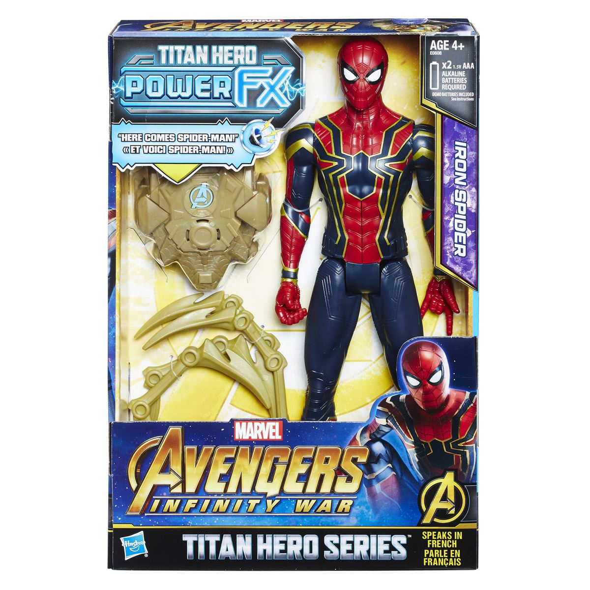 Figura spider-man con power pack 12 pulgadas avengers marvel  - Sanborns