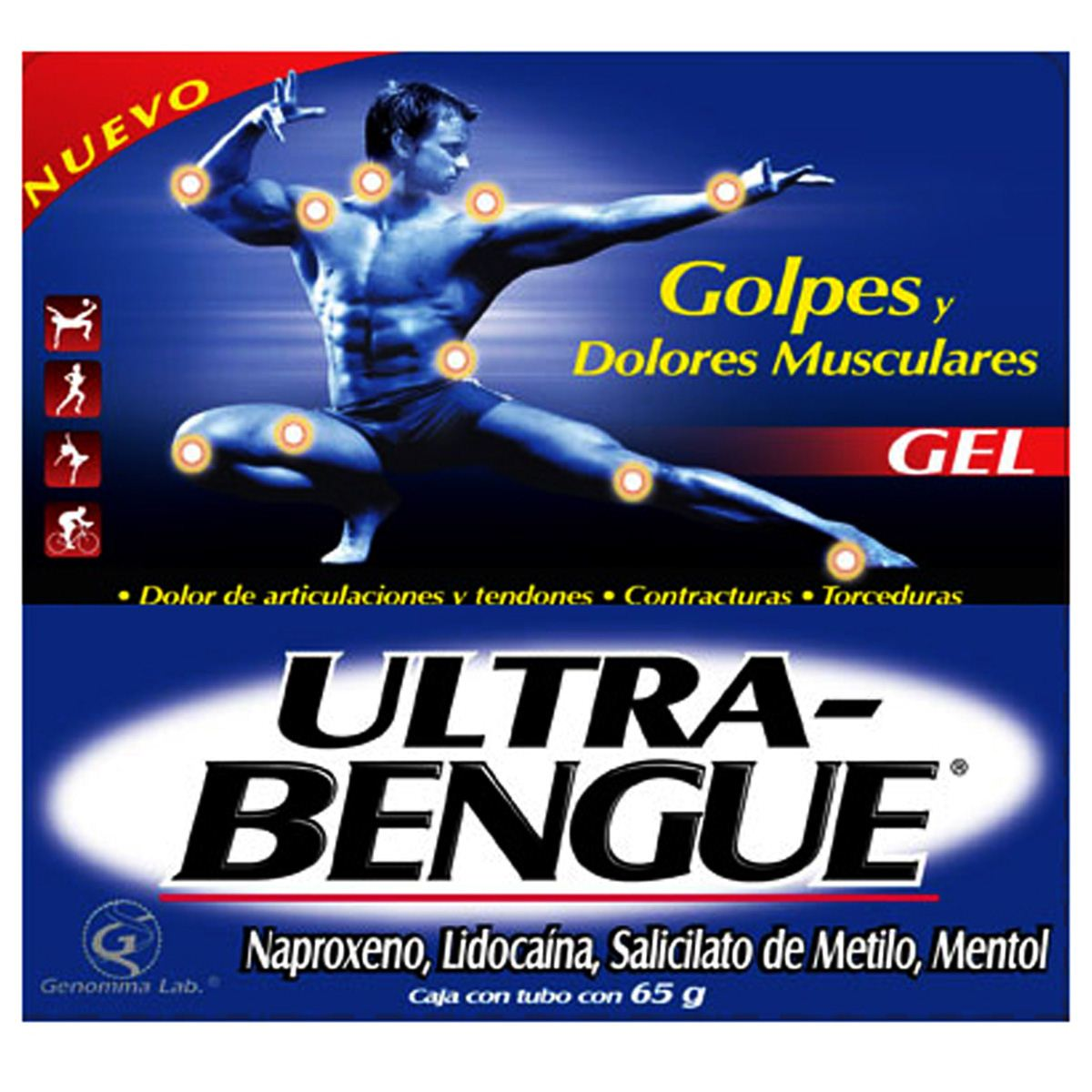 Ultra Bengue Gel Azul