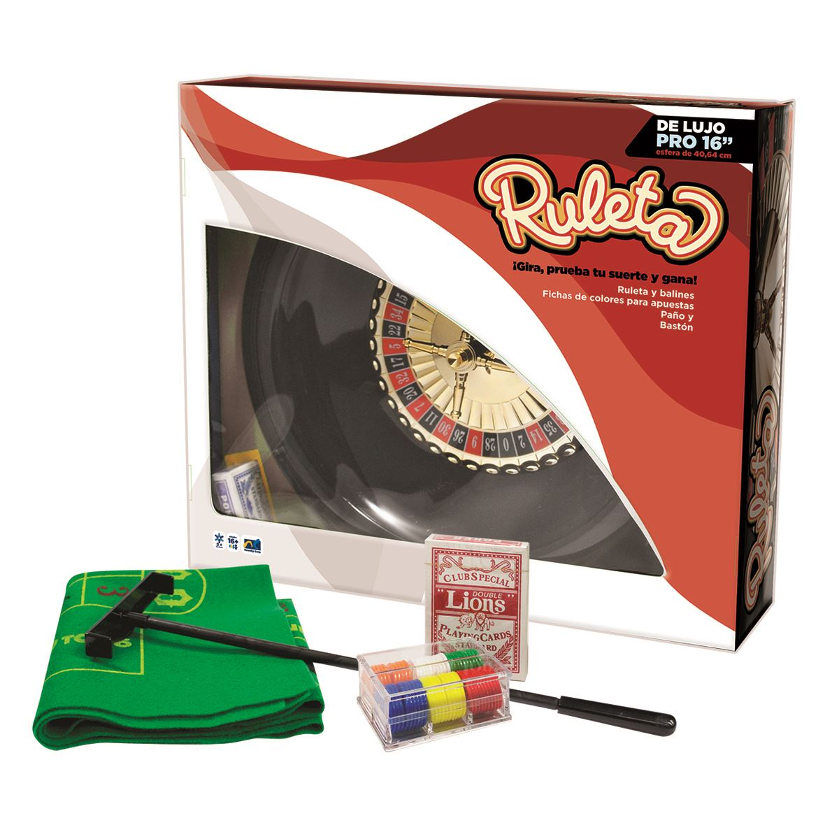 "Ruleta 16"" con naipes y fichas  - Sanborns"
