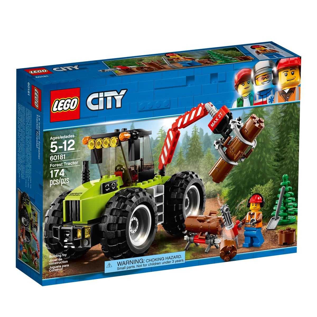 Lego city great vehicles tractor forestal  - Sanborns