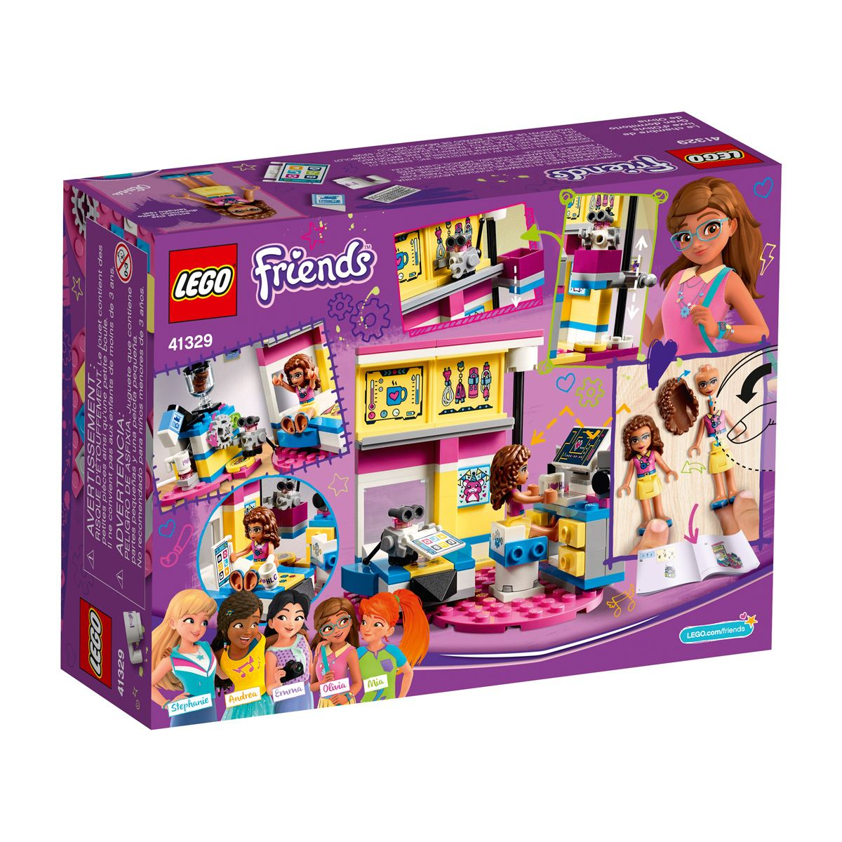 Lego friends gran dormitorio de olivia  - Sanborns