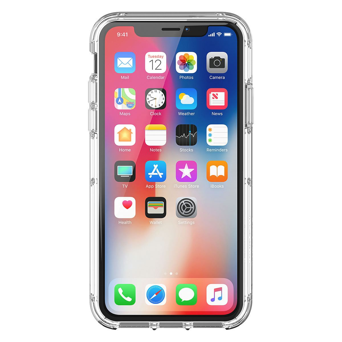 Funda survivor clear iphone x transparente  - Sanborns