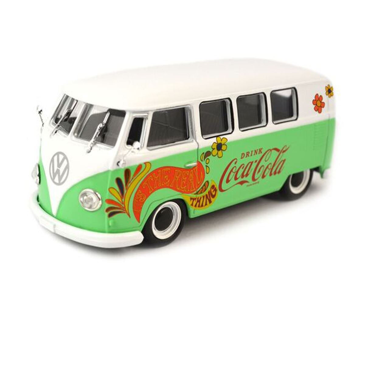 1959 vw t1 samba bus  flowers version   metal top  - Sanborns