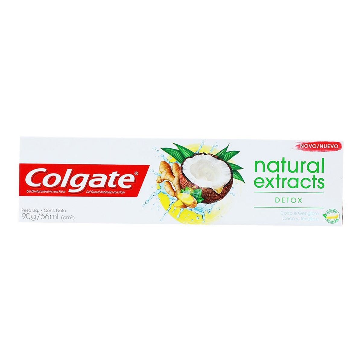 Crema dental Colgate Natural Extrac Coco 90g/66ml