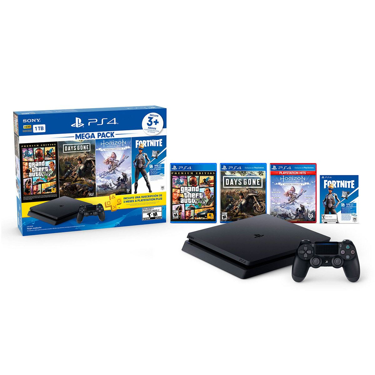 Consola PlayStation4 1Tb Mega Pack 6