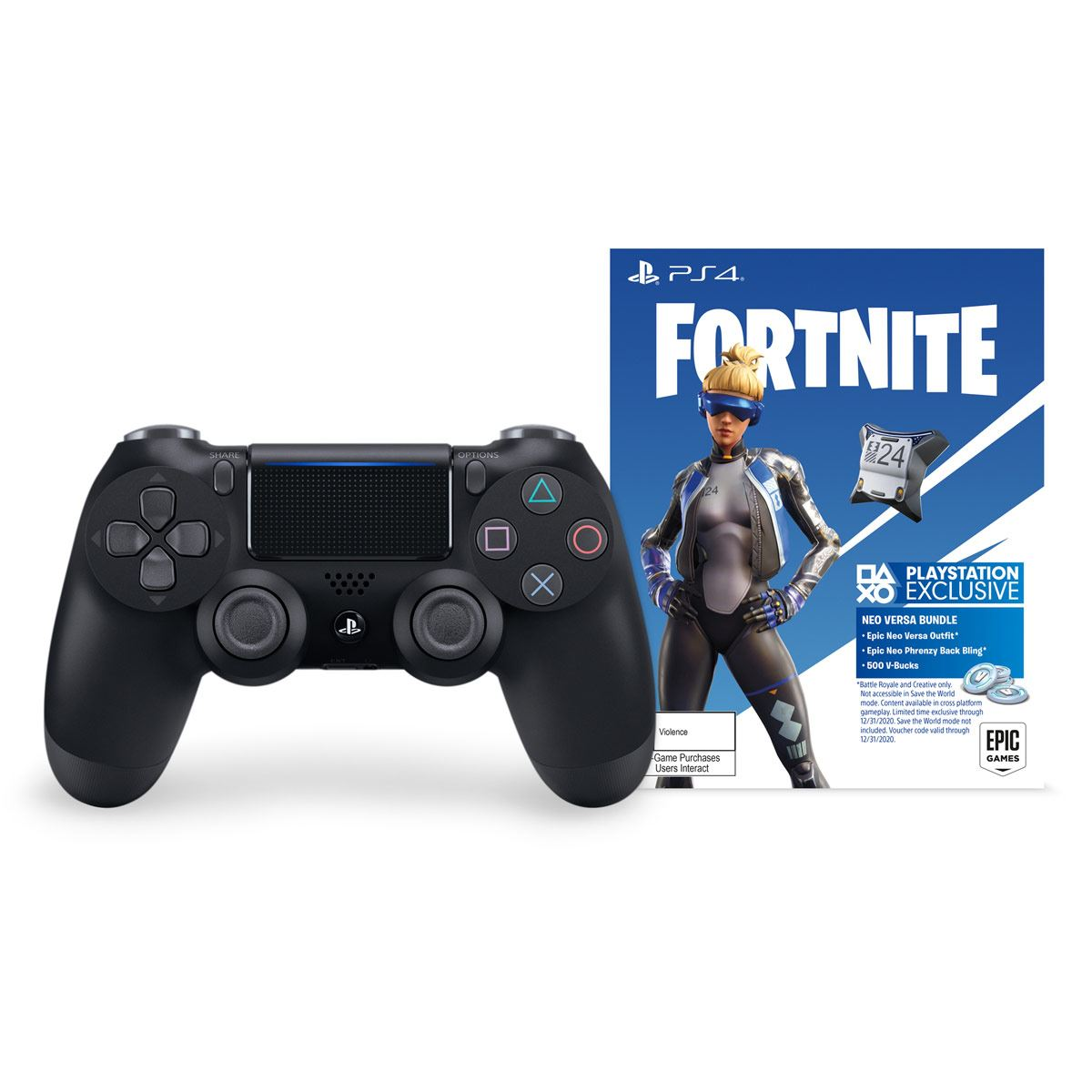 Control PlayStation 4 Fortnite DualShock 4 Negro