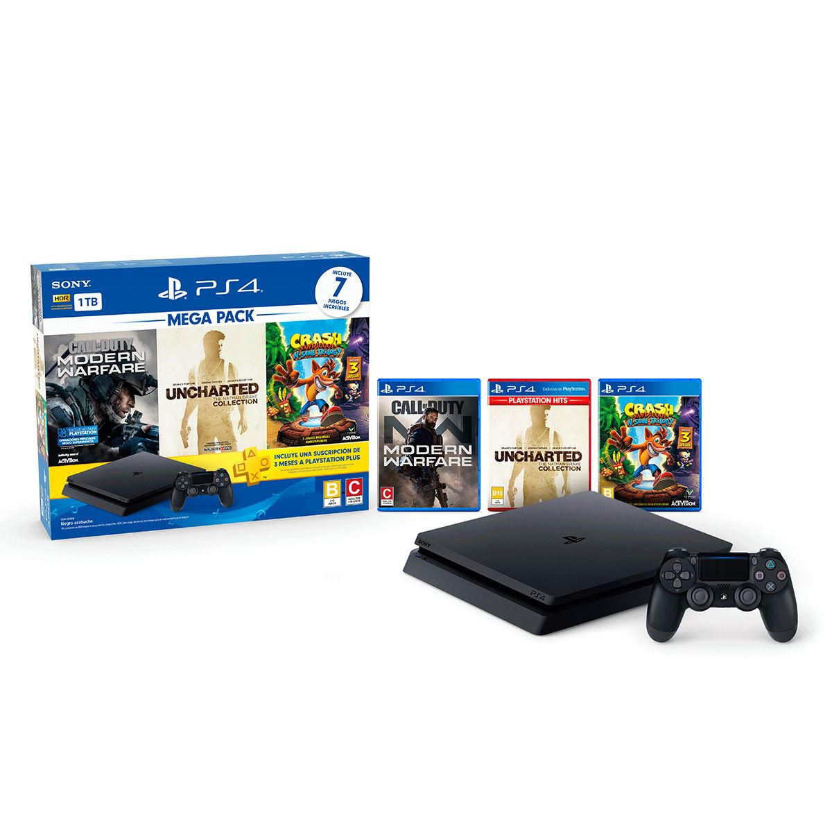 Consola PS4 1 TB Mega Pack 7