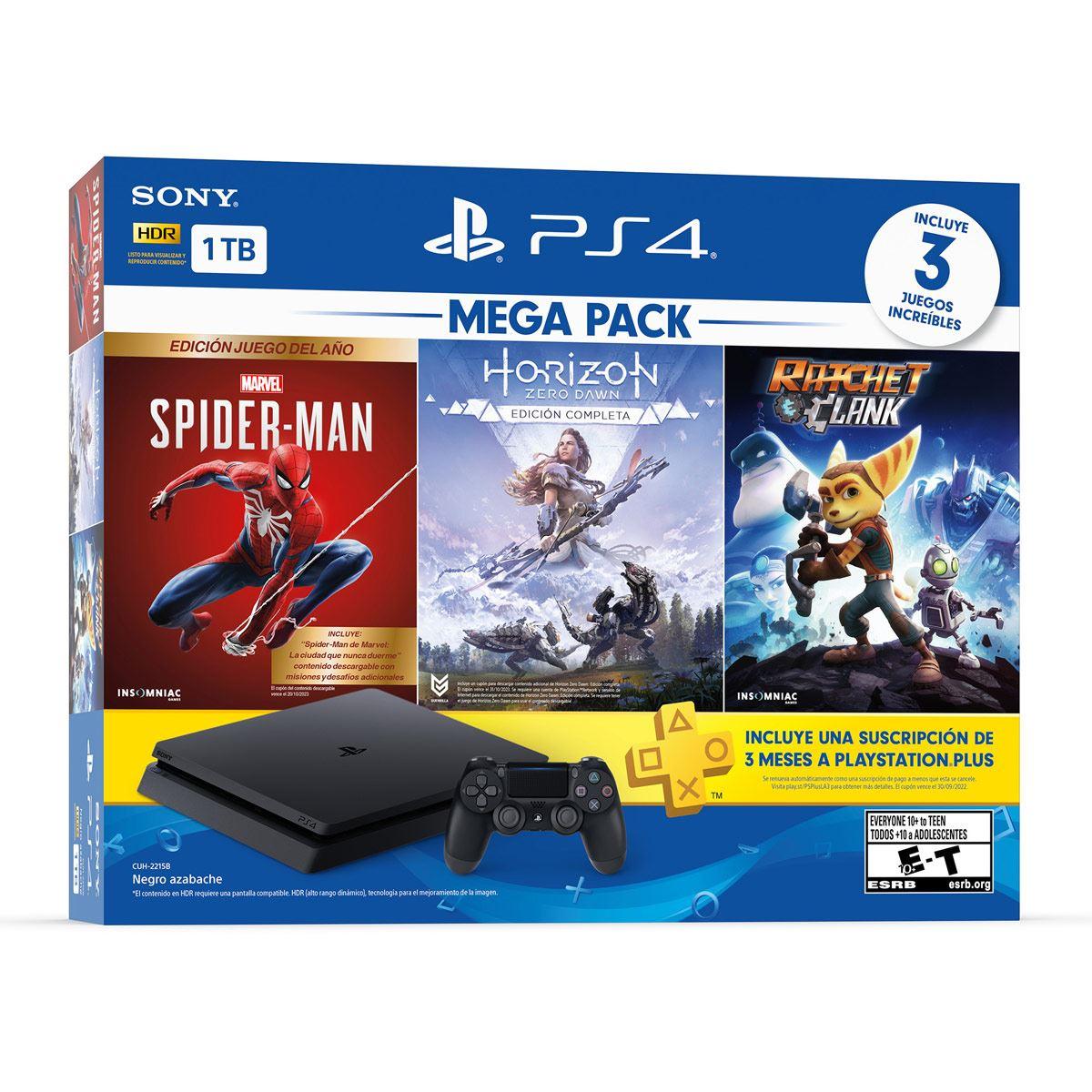 Consola PS4 Mega Pack 15 1TB SM HZD