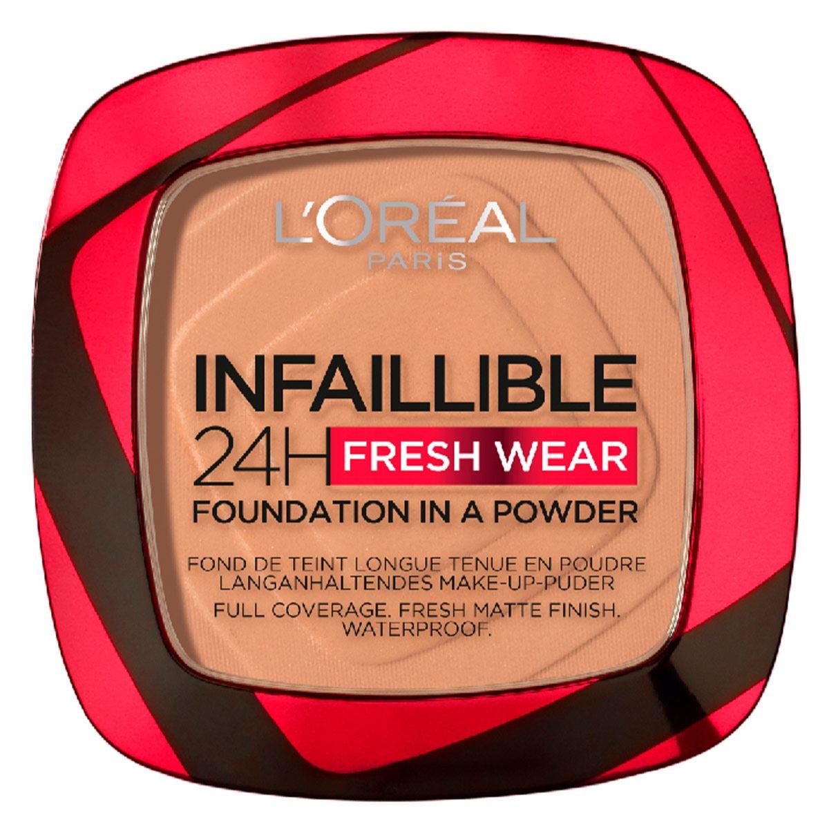 Base de maquillaje Infallible Semi-permanent L'Oréal Paris, Tono Golden Sun