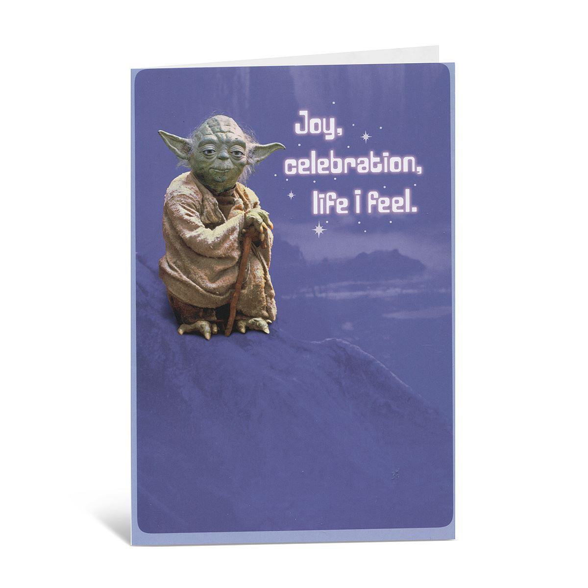 Tarjeta star wars yoda en fondo azul Libro - Sanborns