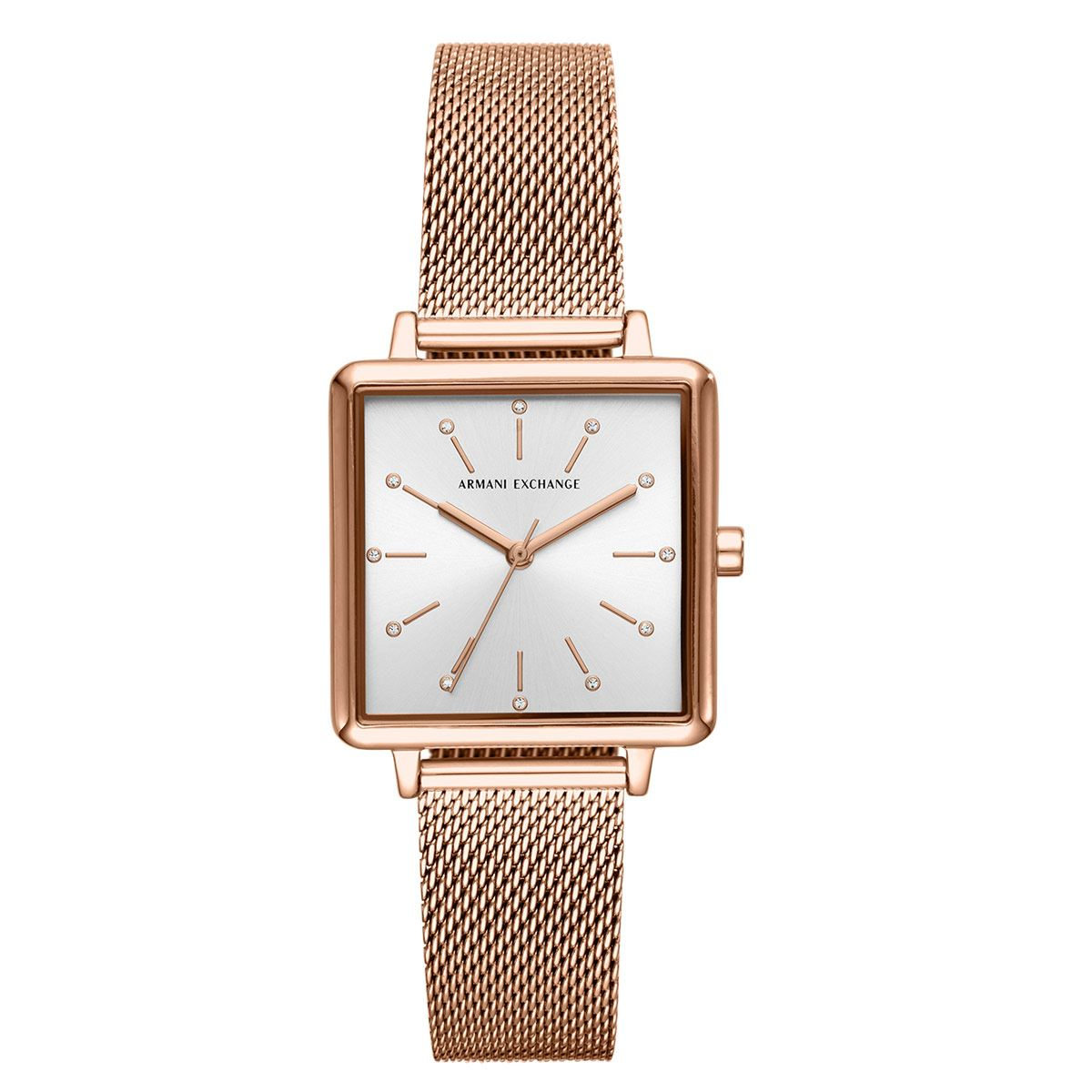 Reloj Armani Exchange AX5802 Color Oro Rosa Para Dama