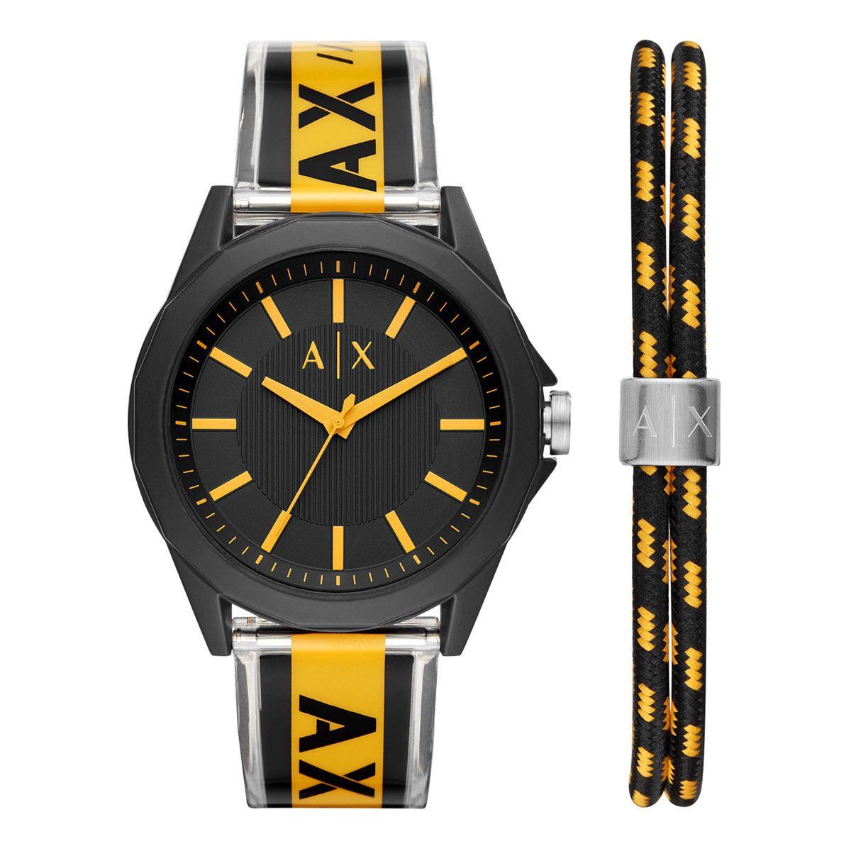 Reloj Armani Exchange Drexler Negro y Amarillo