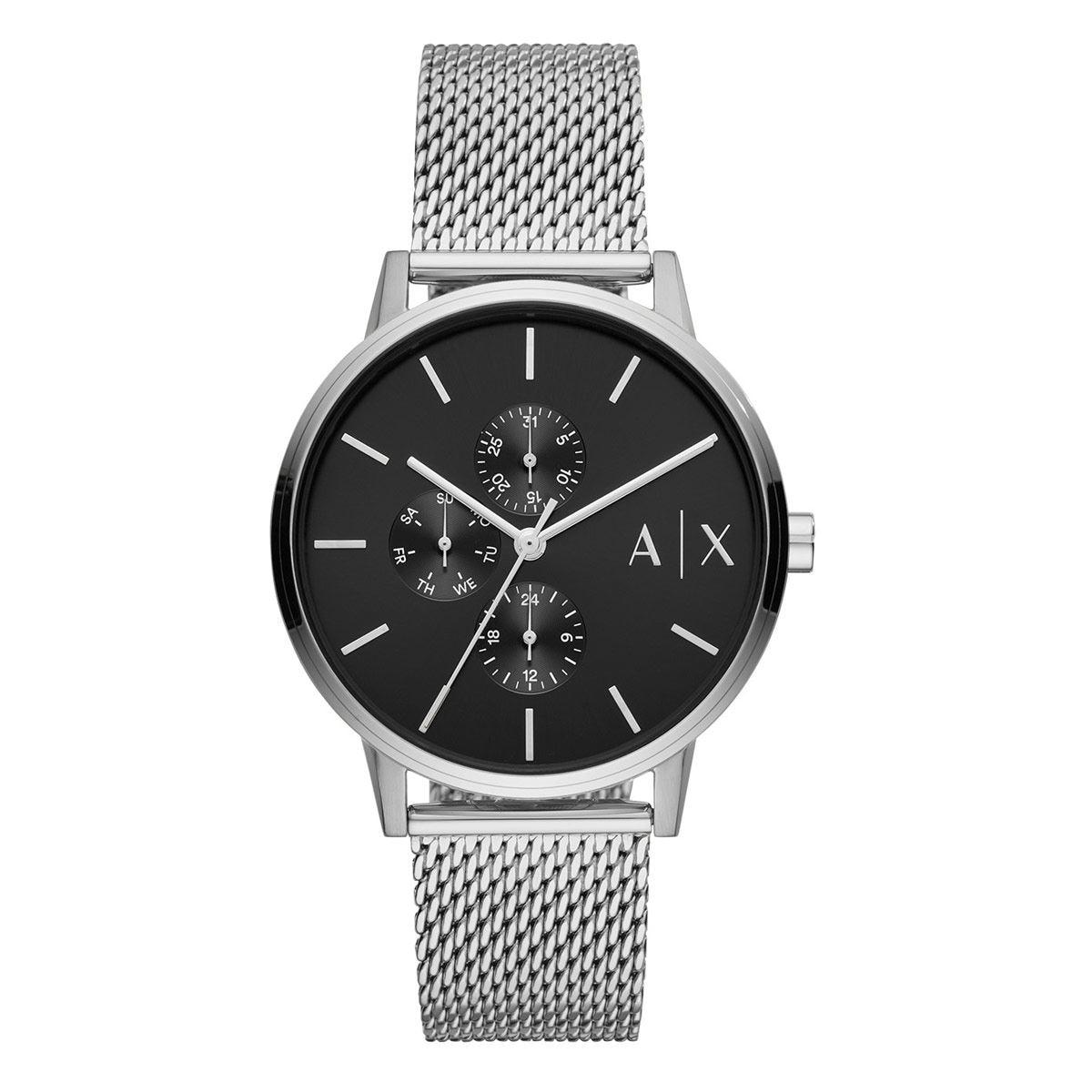 Reloj Armani Exchange Cayde Plateado Para Caballero