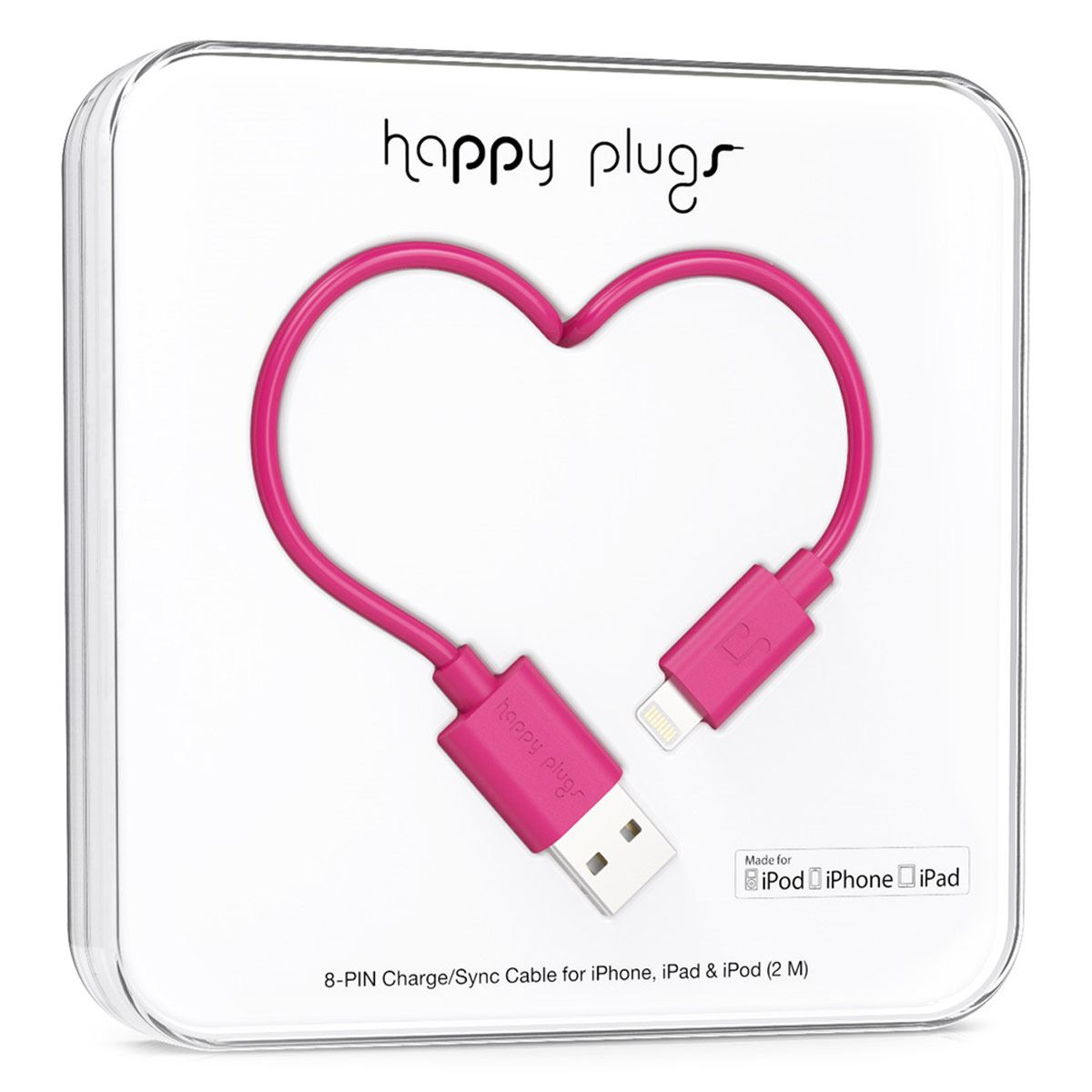 Cable Happy Plugs Lighthing Fiusha 2M