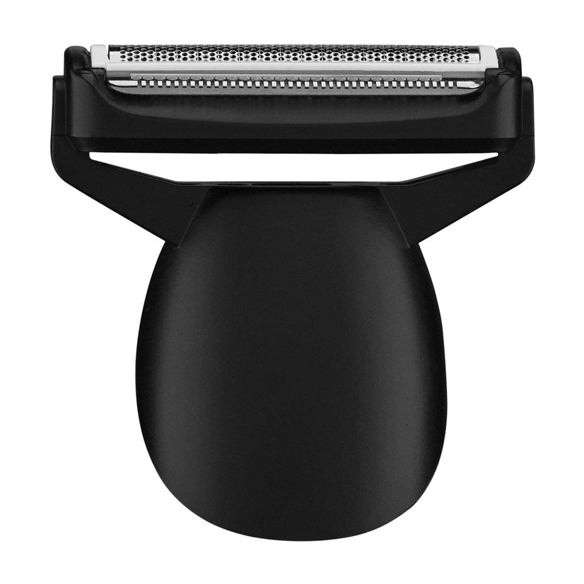 Recortadora para barba recargable cromo negro