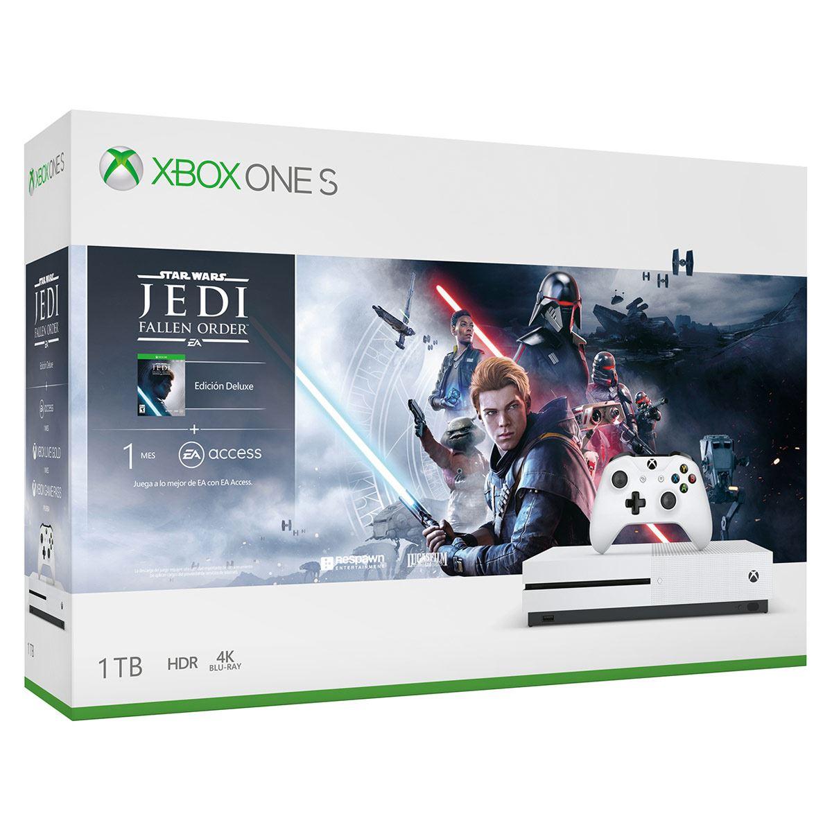 Consola Xbox One S 1 TB Star Wars Jedi + Hyperx
