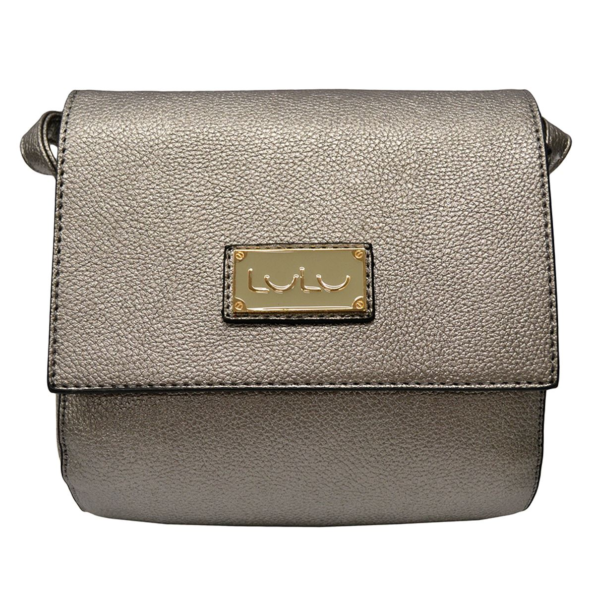 Bolsa cross body chica con tapa material y color liso  - Sanborns