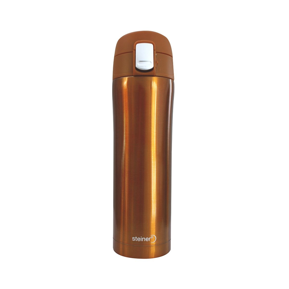Termo steiner de acero inoxidable naranja 450ml  - Sanborns