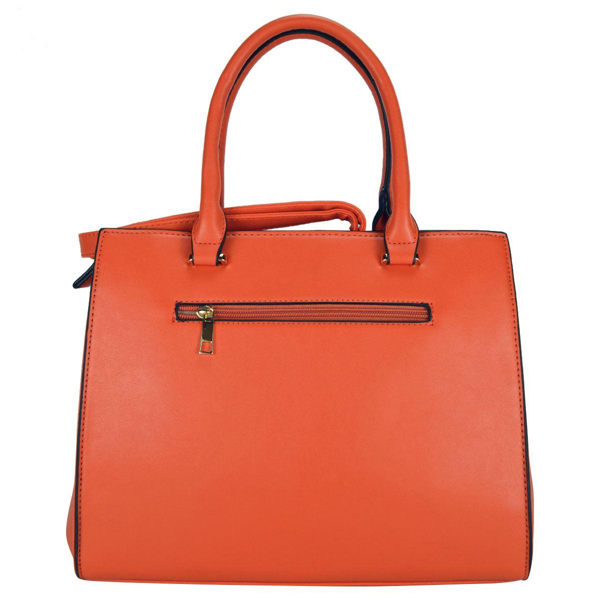 Bolsa satchel HUSER sintético 248-1 naranja