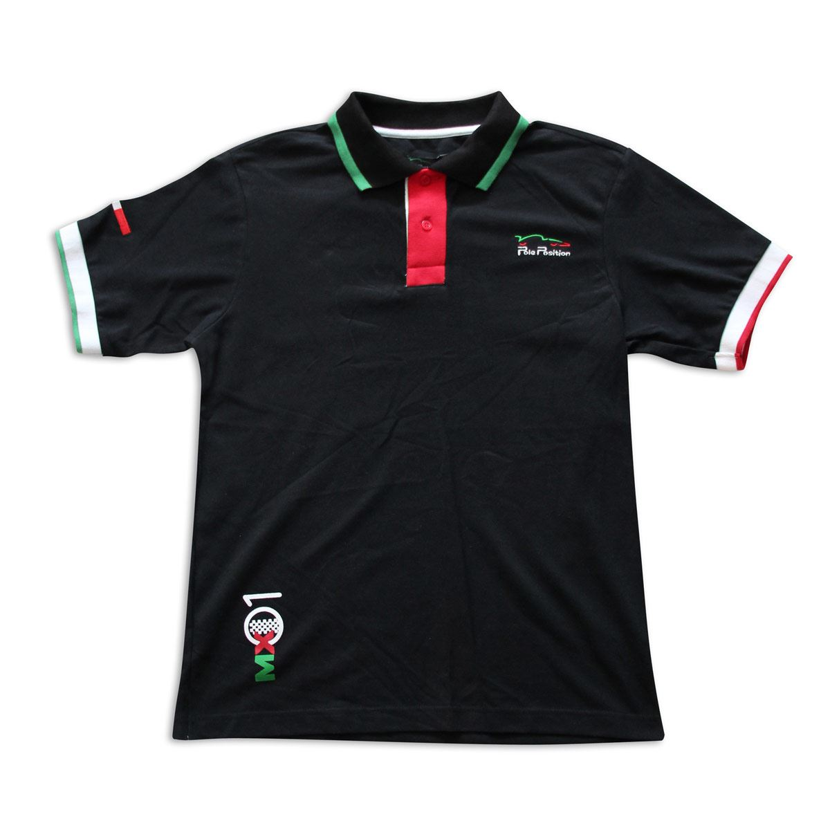 Playera Polo Pole Position México grande negra