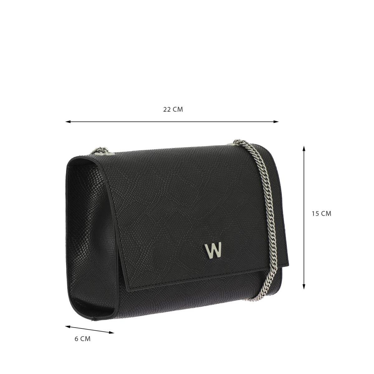 Bolso Westies clutch negro