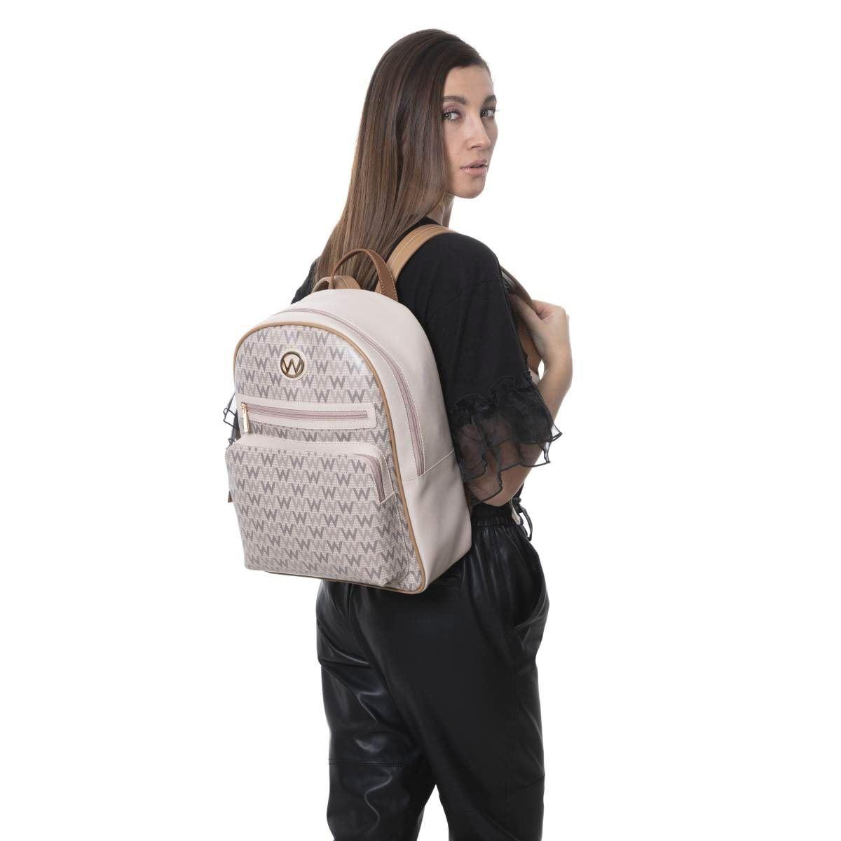 Bolso Westies backpack cafe/multi