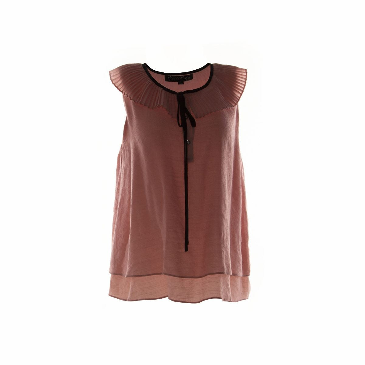 Blusa con jareta M color rosa Philosophy Jr.