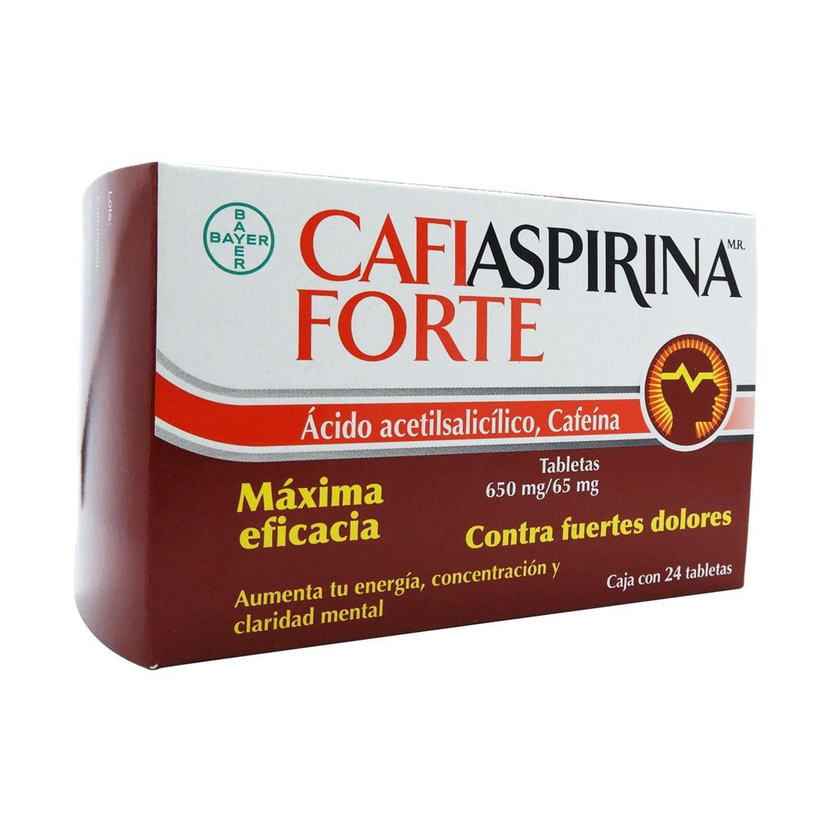Cafiaspirina forte 24 tabletas  - Sanborns