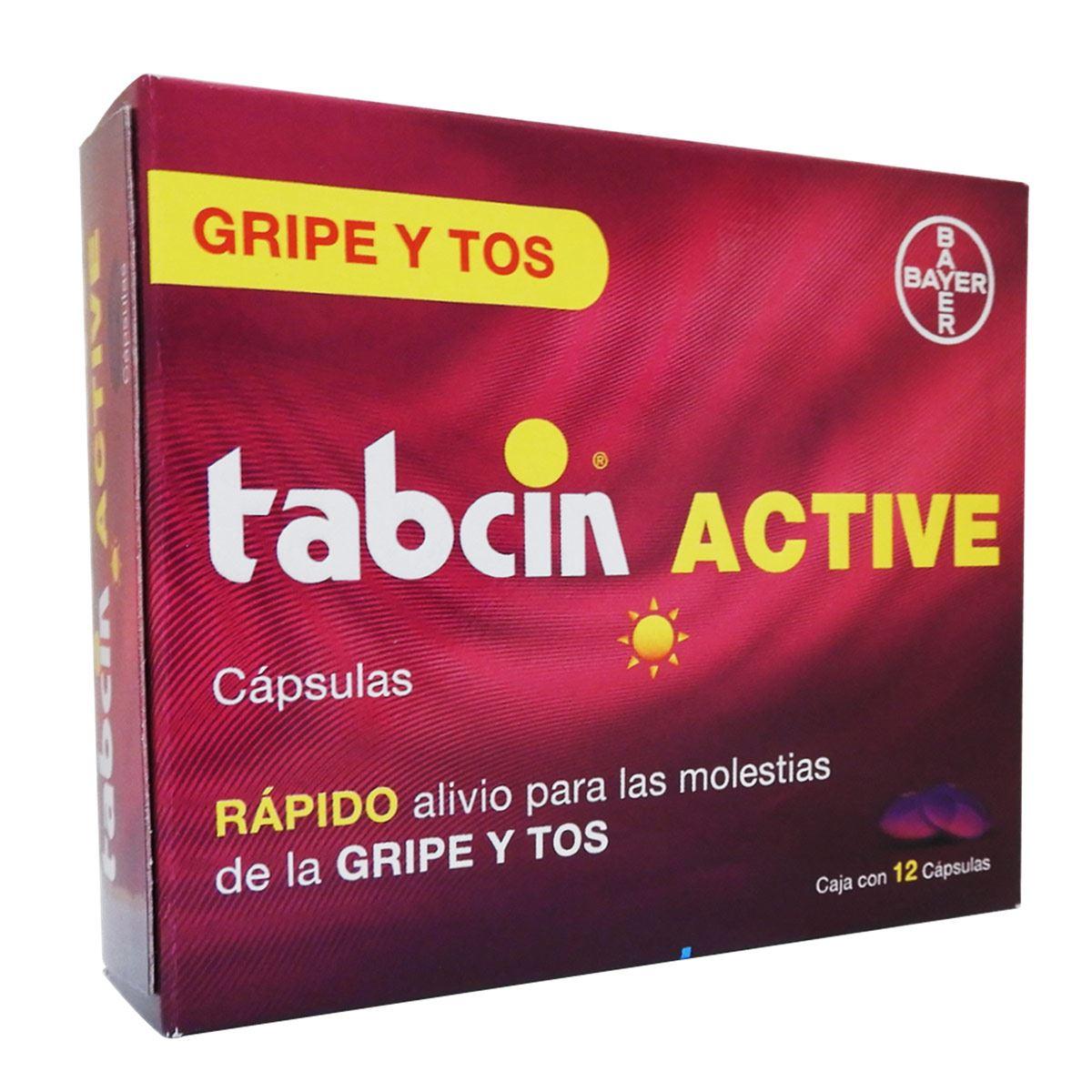 Tabcin-active cápsulas gripe y tos  - Sanborns