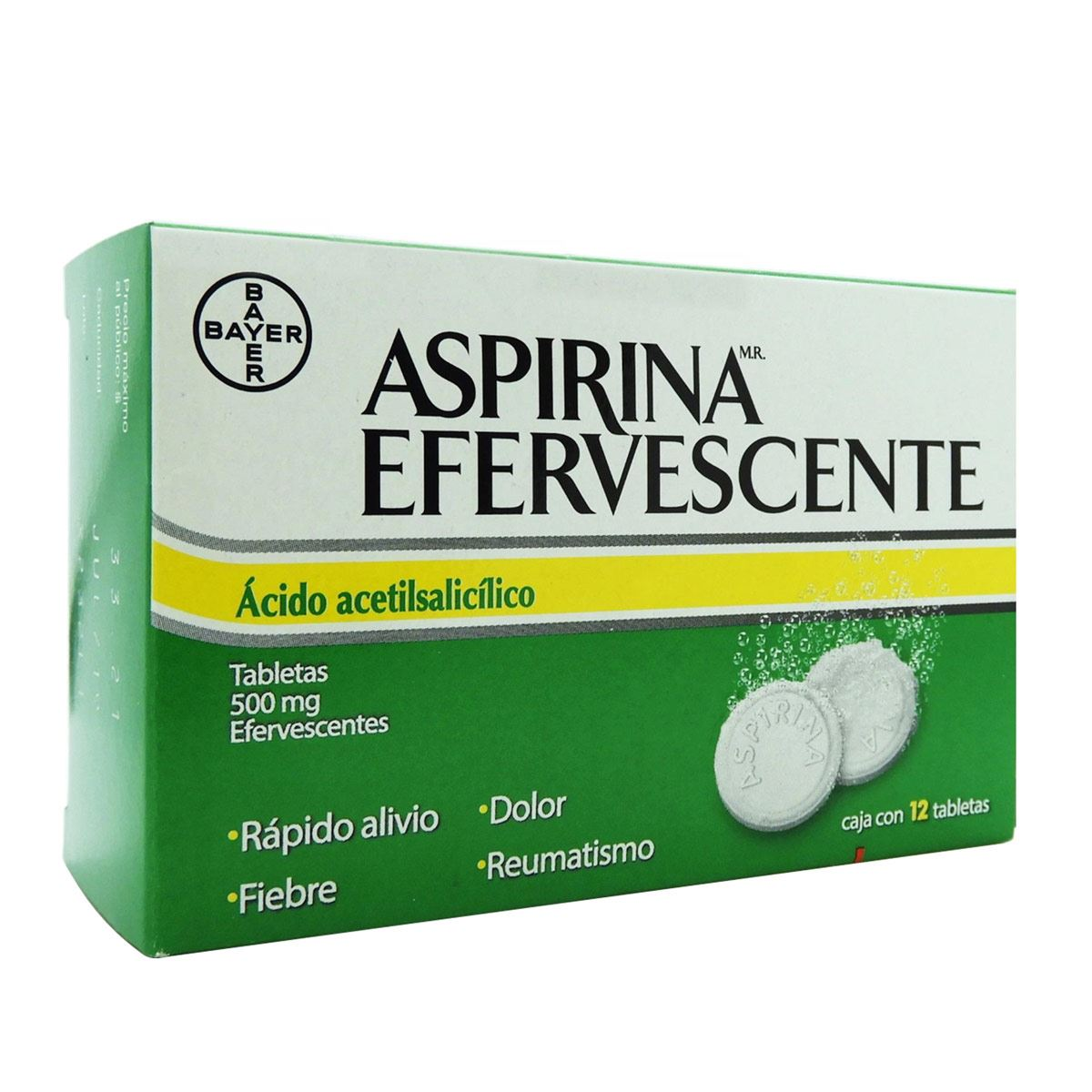 Aspirina efervescente 12 tabletas  - Sanborns