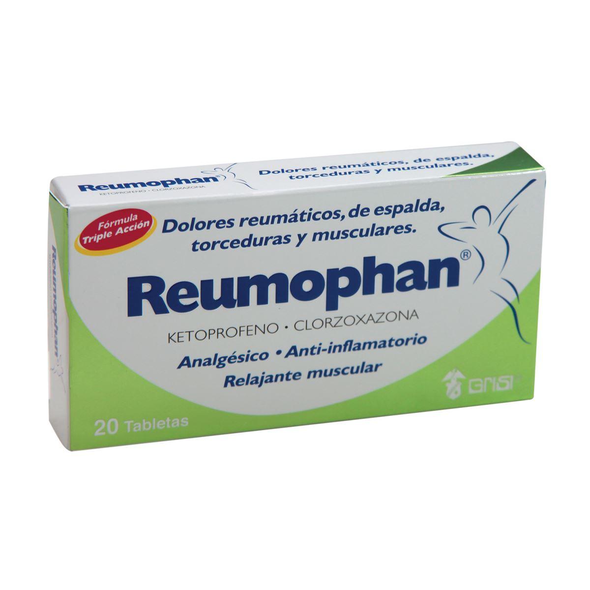Reumophan 20 tabletas  - Sanborns
