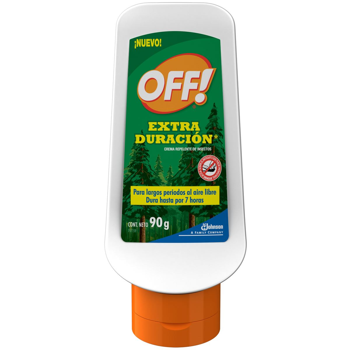 Repelente de insectos en crema off! extra duración 90g  - Sanborns
