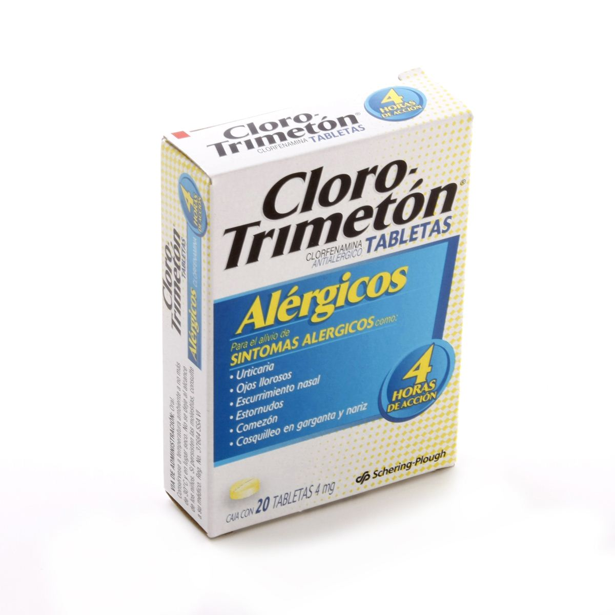 Cloro-Trimeton 4 mg 20 Tabletas