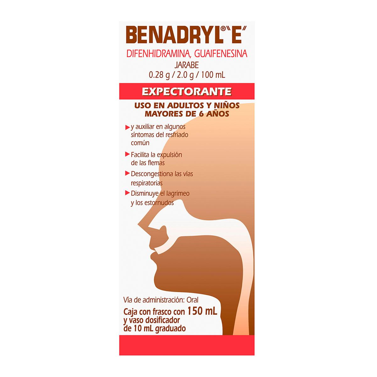 Benadryl e jarabe 150 ml  - Sanborns