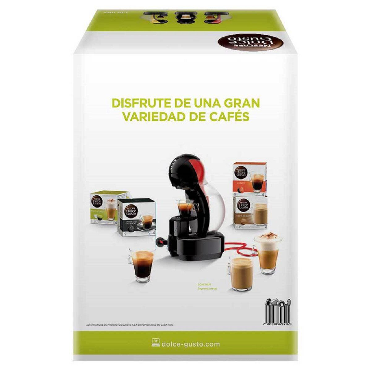 Cafetera Dolce Gusto Colors Negra