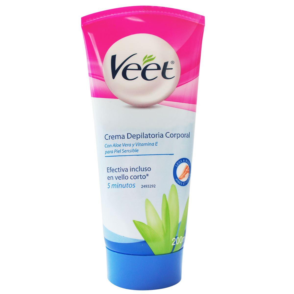 Veet® crema depilatoria corporal para piel sensible 200ml  - Sanborns