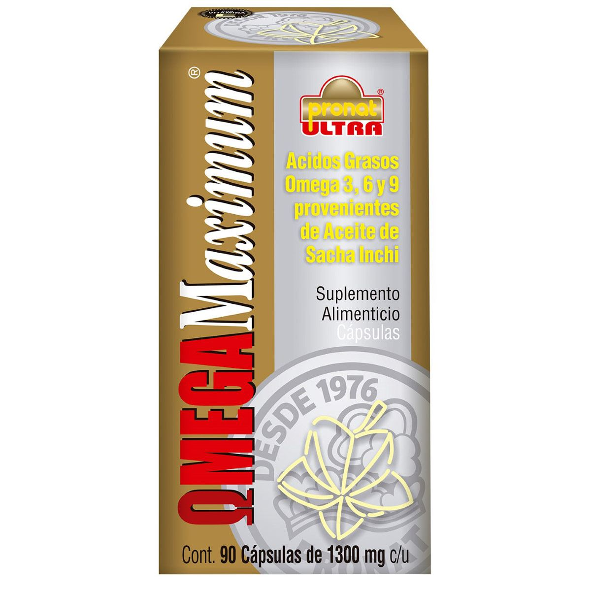 Mega maximum 90 cápsulas (omega 3,6,9)  - Sanborns