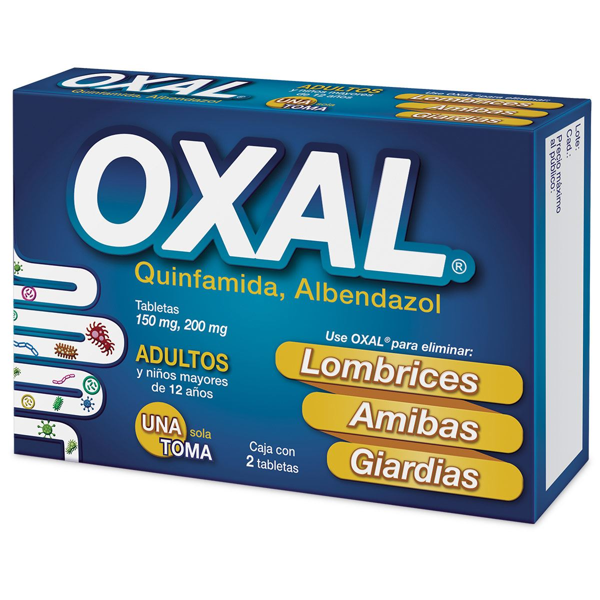 Oxal 150/200 mg 2 tab  - Sanborns