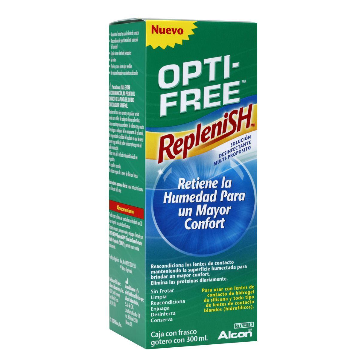 Solución opti free  replenish 300 ml  - Sanborns