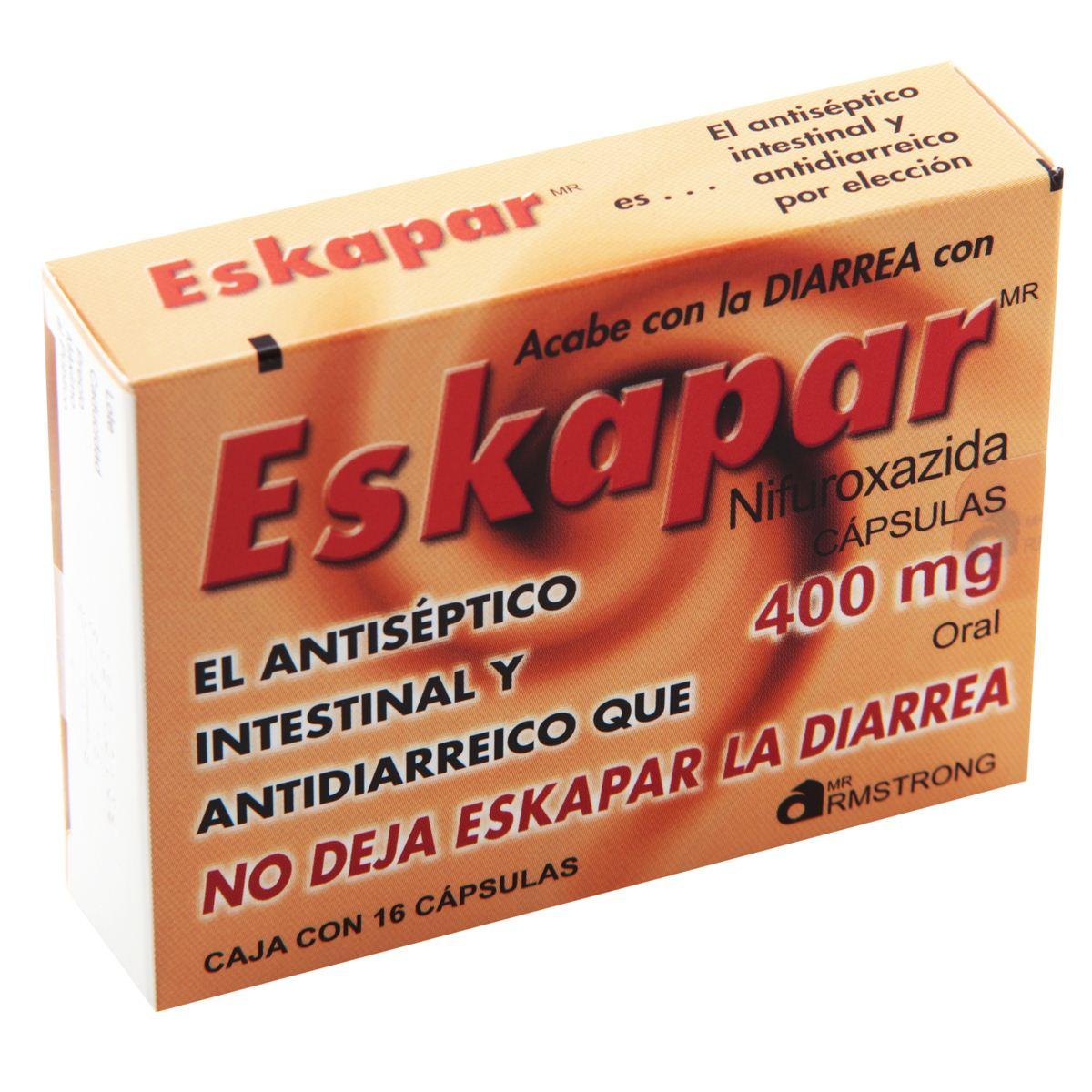 Eskapar con 16 Cápsulas 400 mg