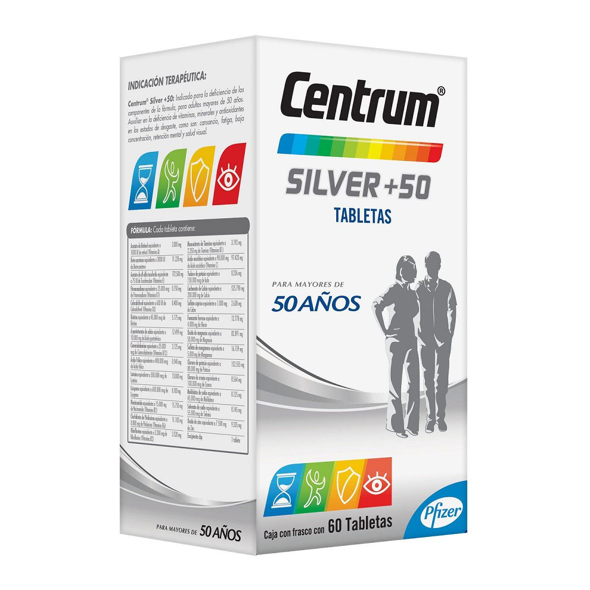 Centrum-silver 60 tabletas  - Sanborns