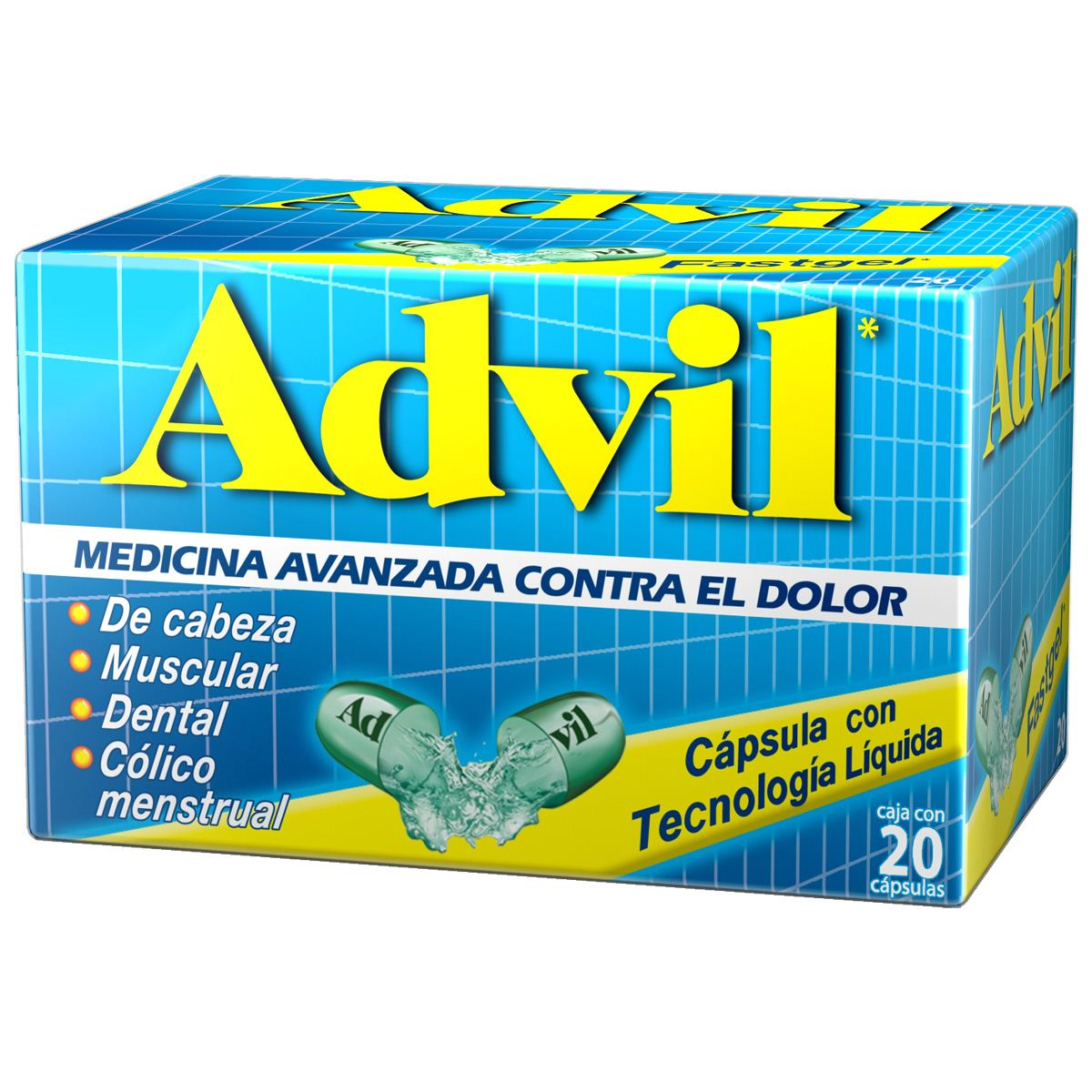 Advil fastgel c 20 200mg  - Sanborns