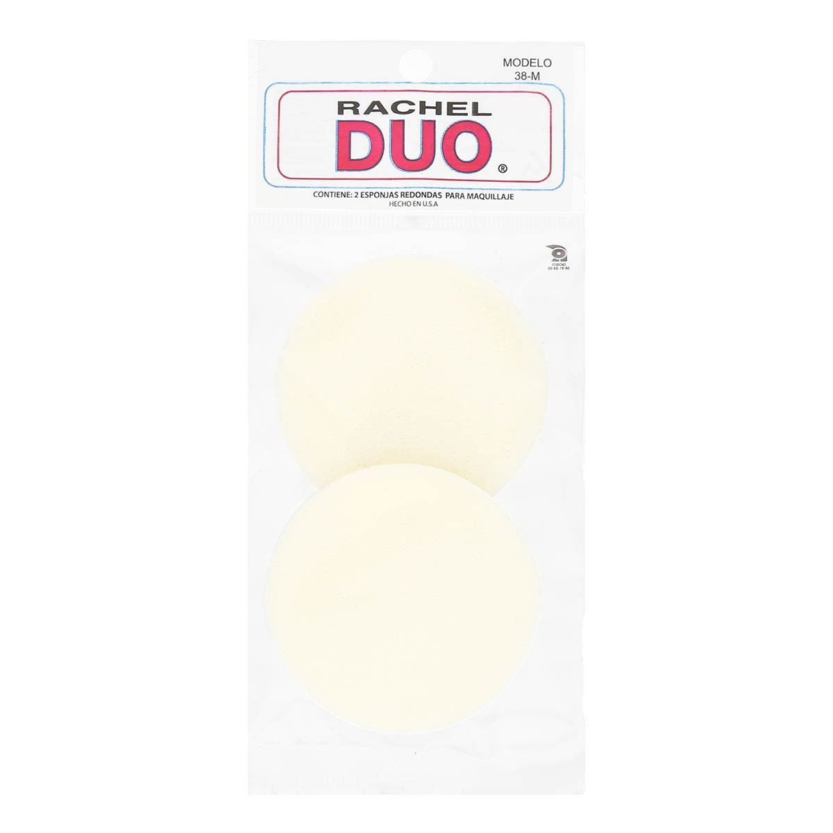 Esponjas redondas maquillaje Rachel Duo 38-M