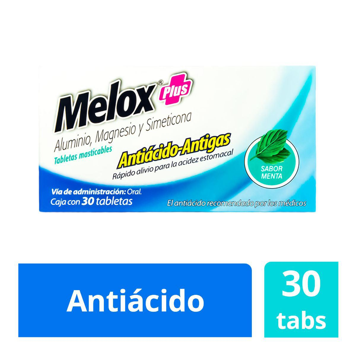 Melox-Plus Anti Gas Masticable Sabor Menta