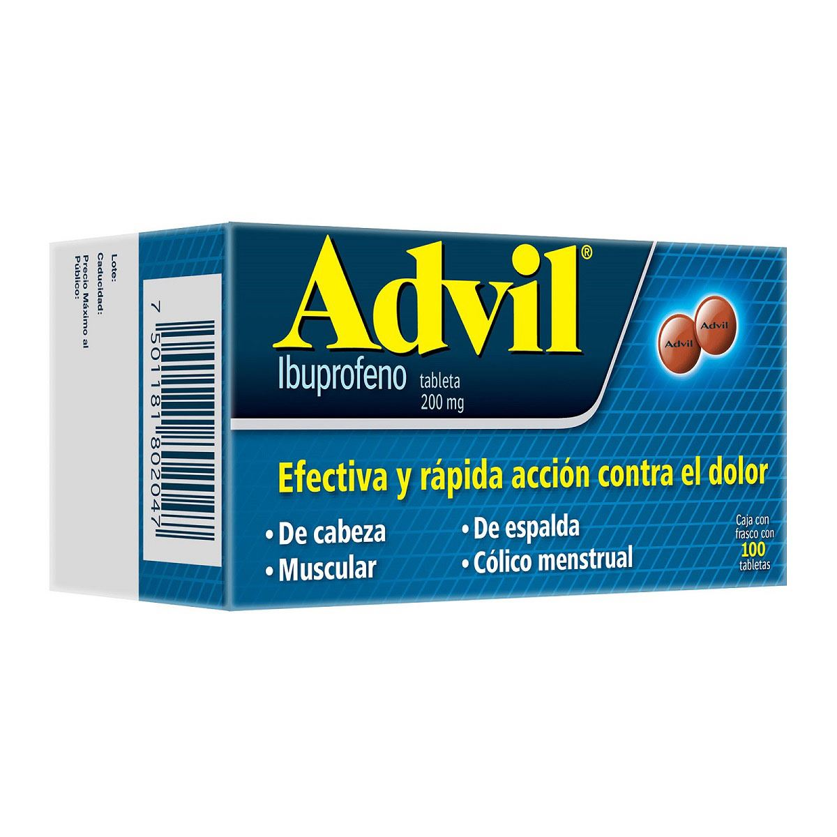 Advil 200 mg grag 100