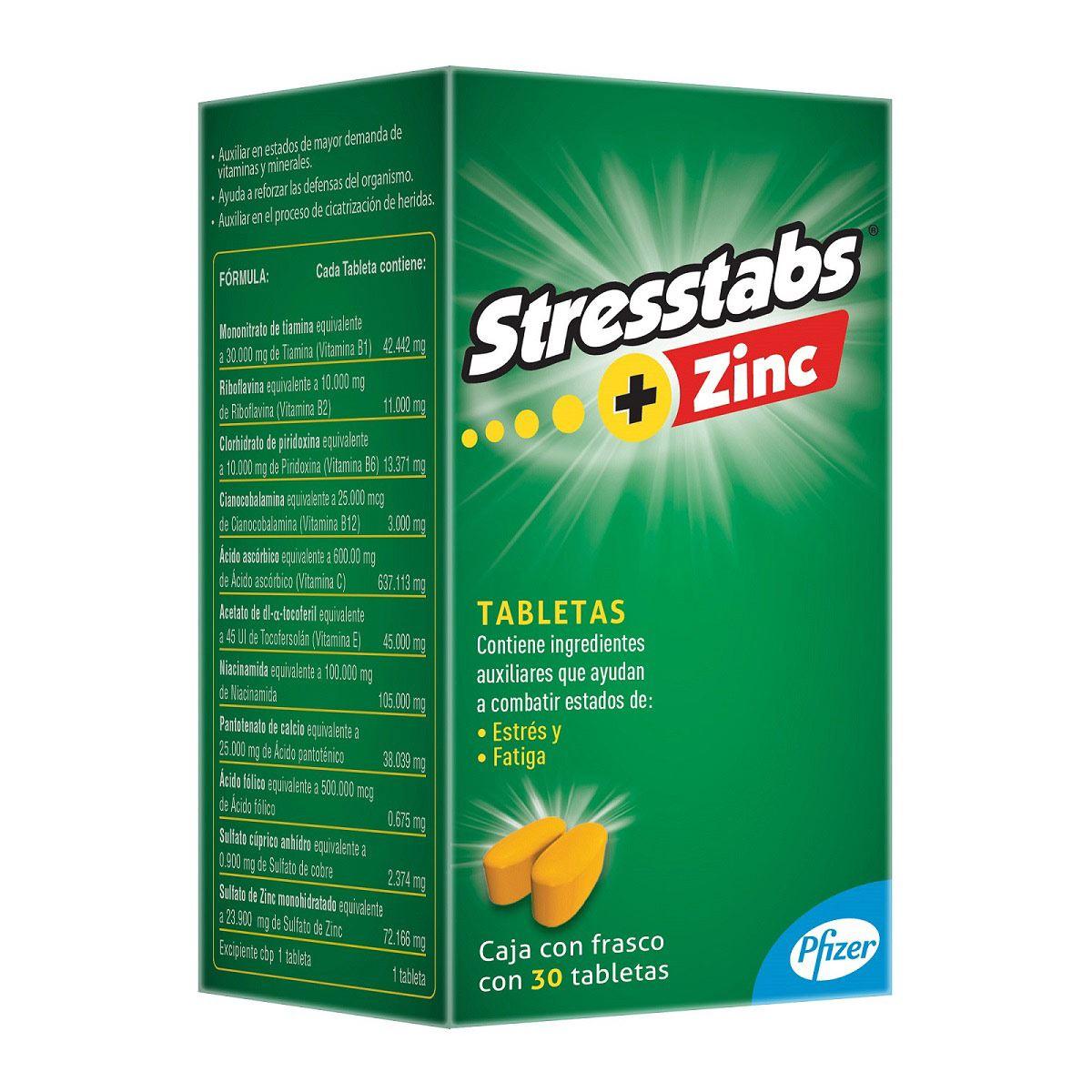 Stresstabs 600 con zinc  - Sanborns